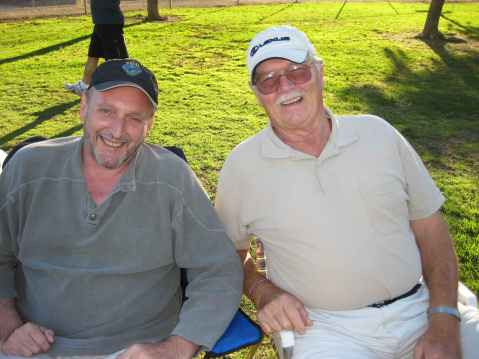 My delightful husband and my groovy Dad!