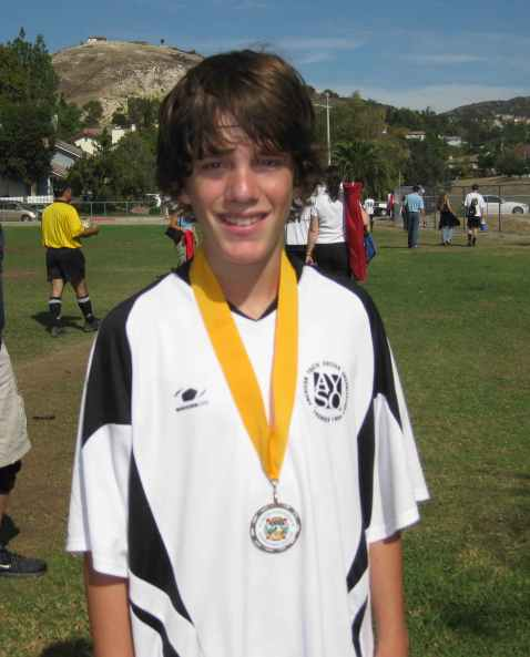 My Star Player wearing his 35th Annual Sportsmanship Medal -- Best in entire League!