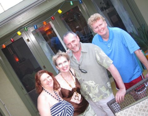 Our Hosts Valerie and Jim... with me and my Jim
