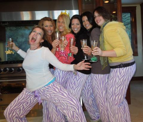 Wild in our Matching Pajama Pants... Yes, that's my cooch!