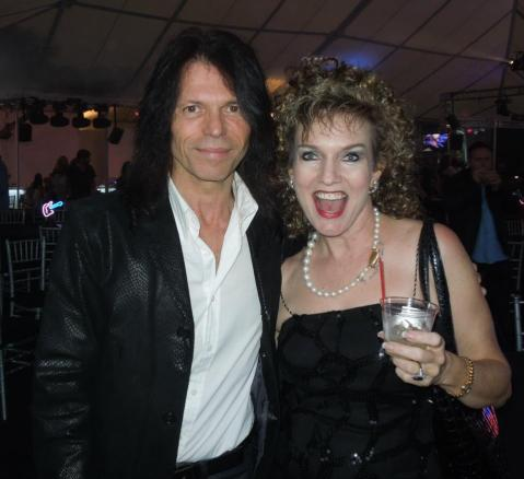 Belle with Rudy Sarzo of Quiet Riot and Ozzy Osbourne!