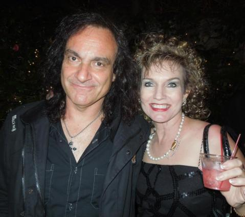 Belle Karper with Vinny Appice of Black Sabbath and Dio